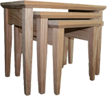 TAPERED STYLE SOLID PINE NEST OF TABLES