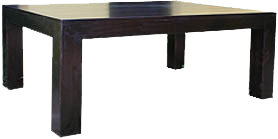 Thin Top Block Solid Timber Coffee Table