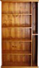 Solid Timber Bookcase with CD Row