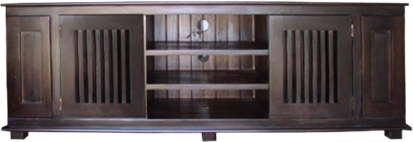 MYKONOS LOWLINE TV UNIT WITH CD/DVD PULLOUTS
