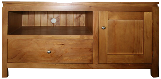 SMALL SANTORINI PINE TV UNIT