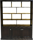 BYRON Display Bookcase with Bottom Doors