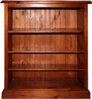 SMALL COLONIAL SOLID PINE BOOKCASE