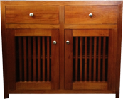 Tuscan Solid Pine Buffet with slatted Doors