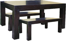 Block Table & Bench Set