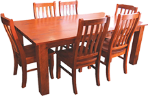 Thick Top Block Table 7 piece set
