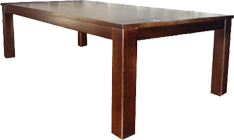 Thick Top Block Solid Pine Dining Table