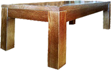 THICK TOP BLOCK SOLID TIMBER COFFEE TABLE