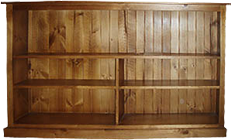 Colonial Lowline Staggered Bookcase