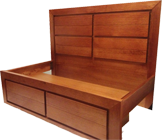 Echo Bed with Drawers at Base